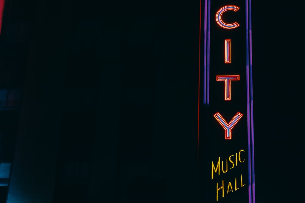 City Music Hall signage