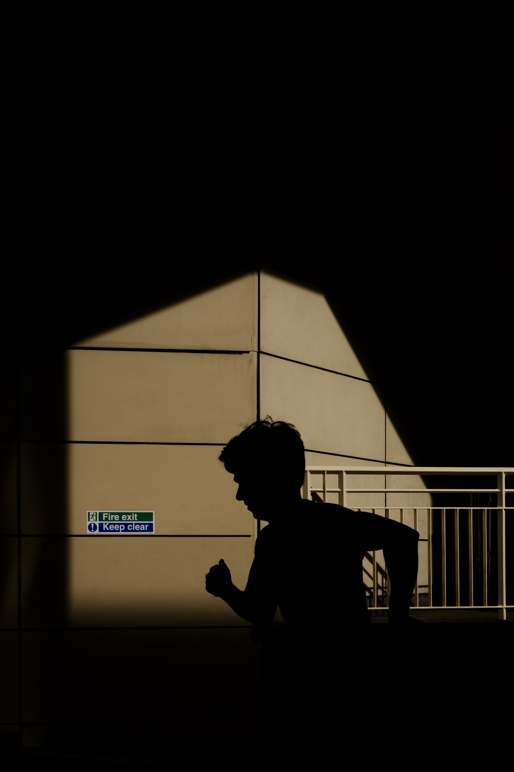 silhouette of running man