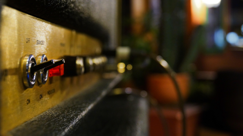 brown speaker close-up photo