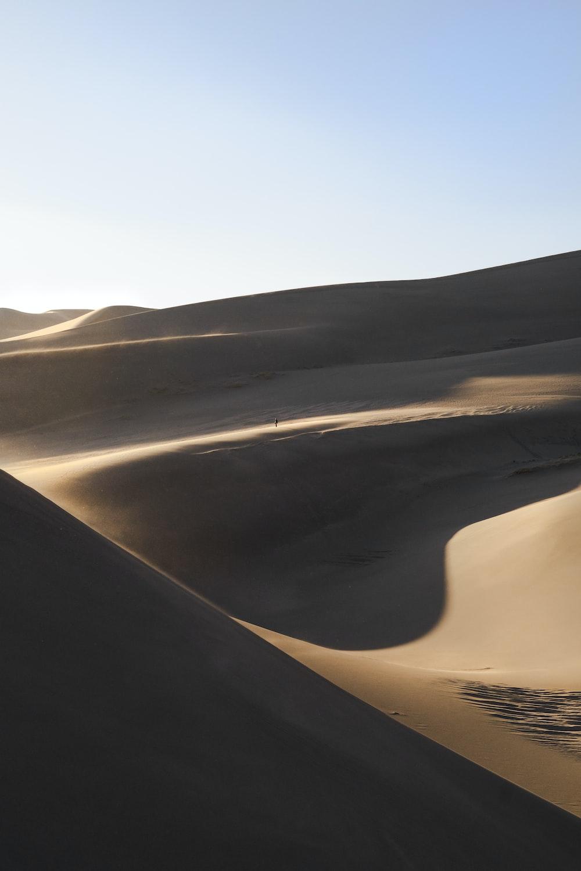 landscsape photography of desert field