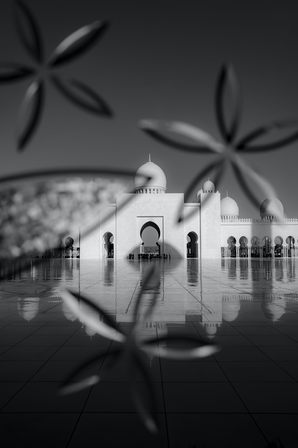 grayscale photography of Taj Mahal