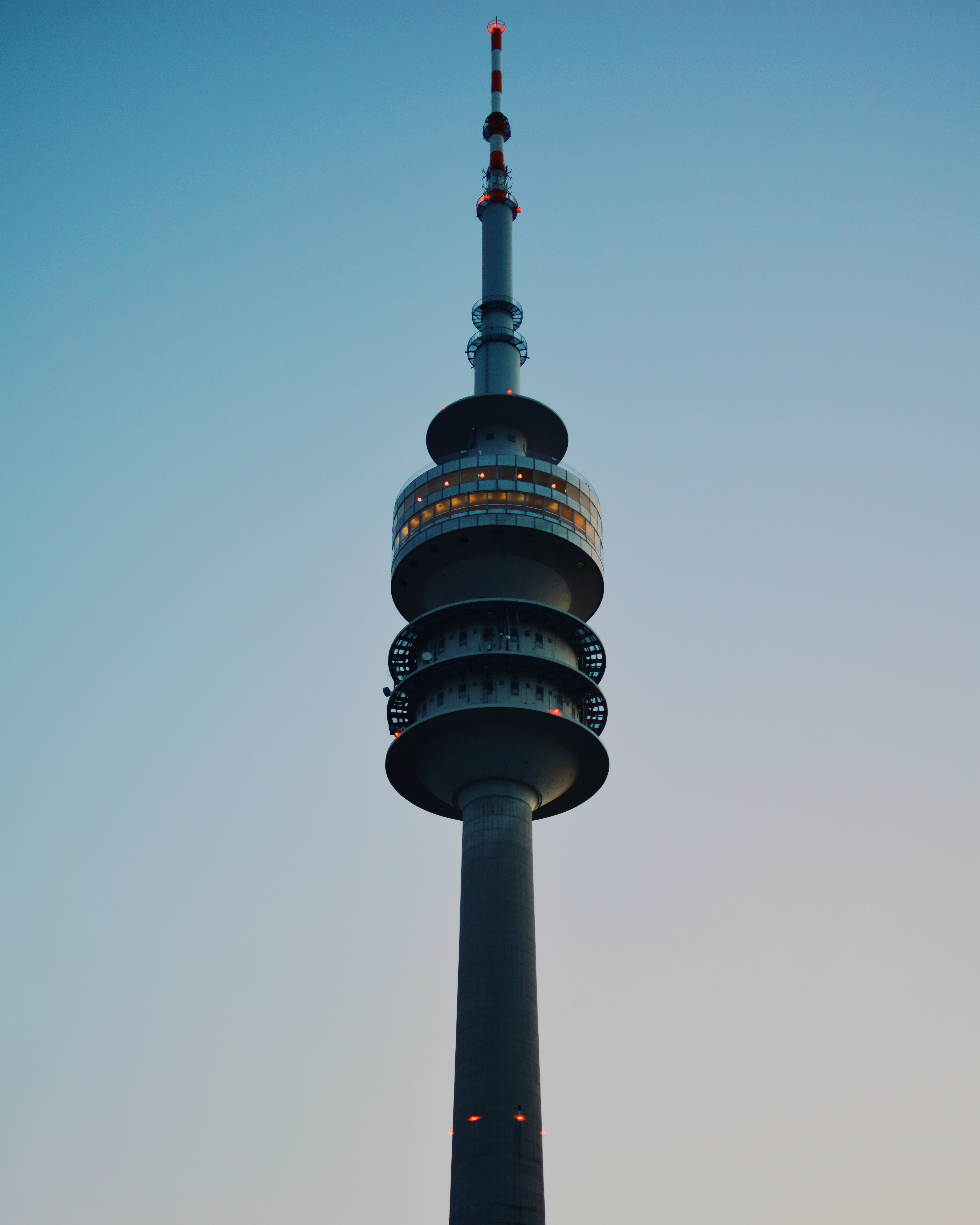 gray TV tower