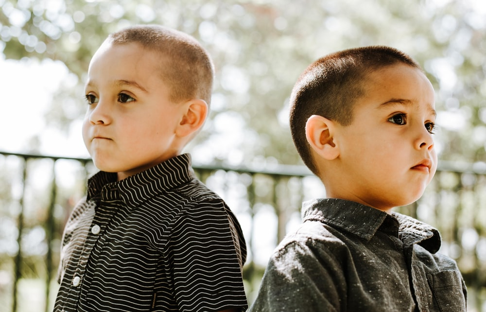 two boys standing
