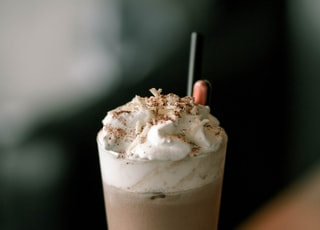 milkshake topped with whipped cream
