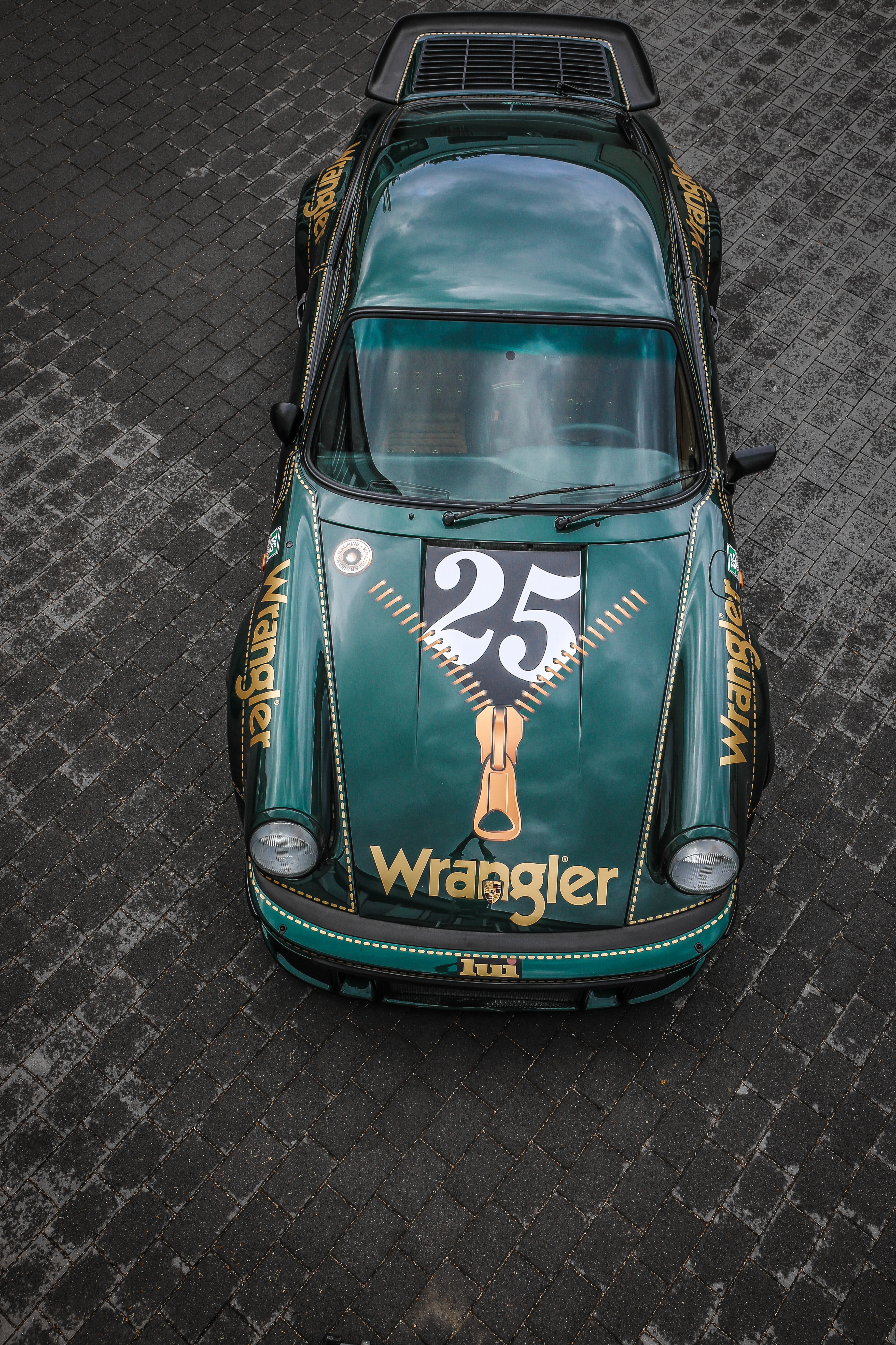 teal Wrangler 25 die-cast coupe toy