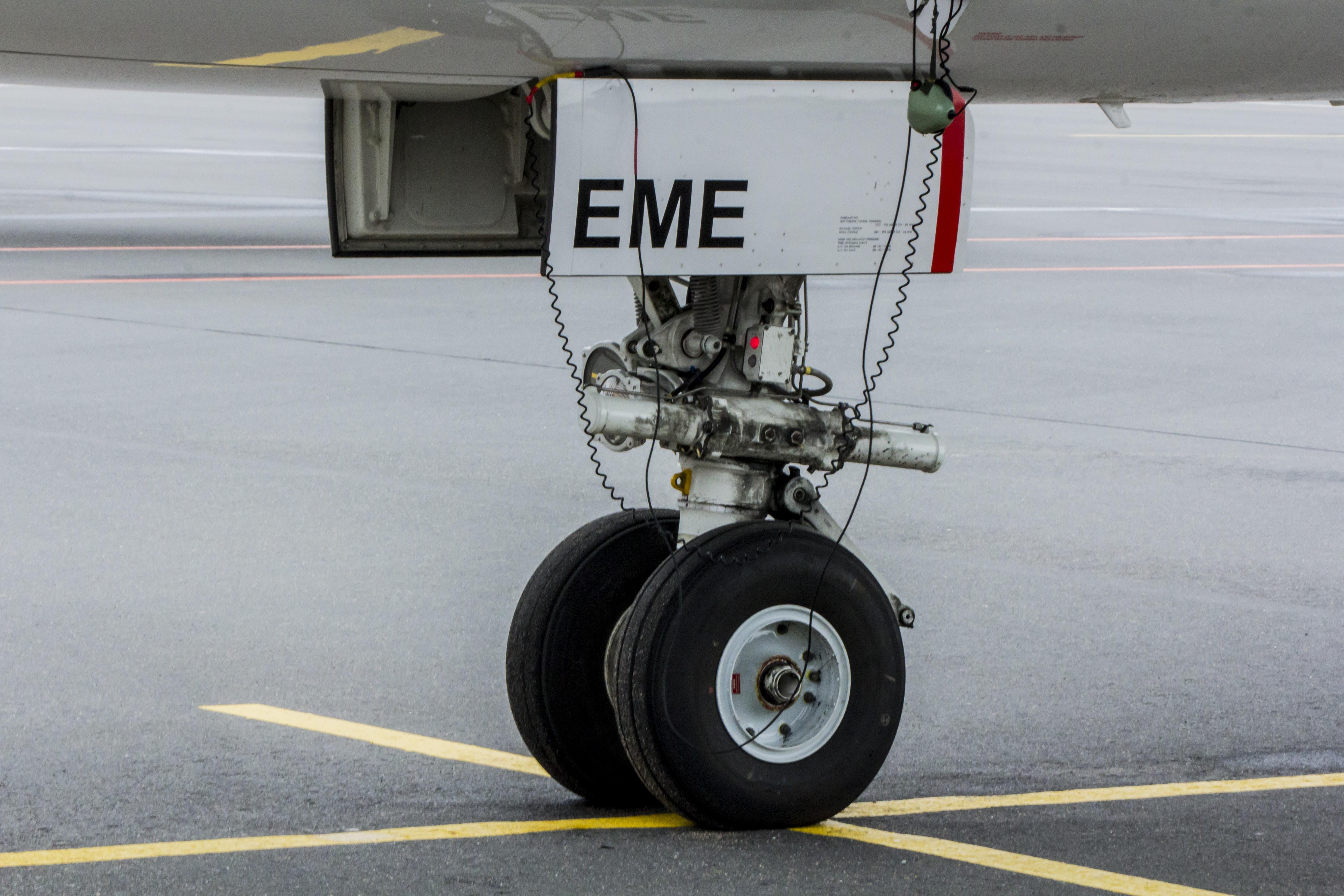 white plane wheel