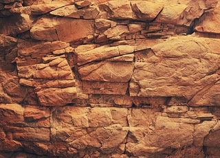 brown rock wall