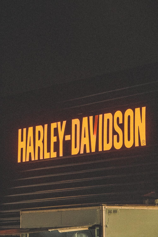 Harley-Davidson signage