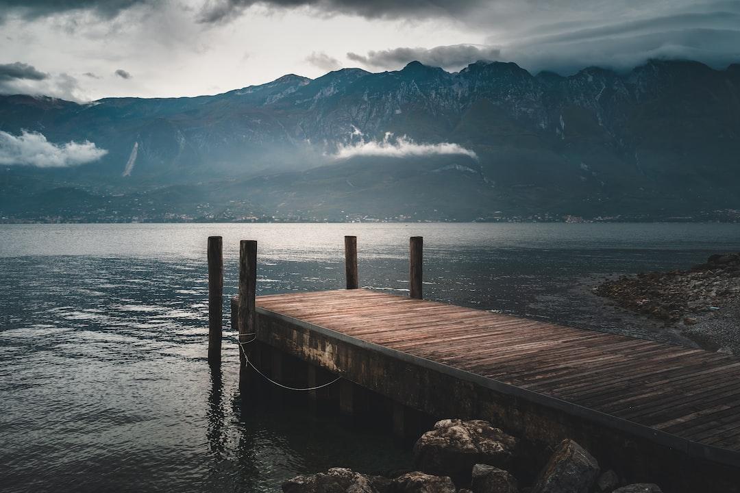 Bad weather on the Lake Garda