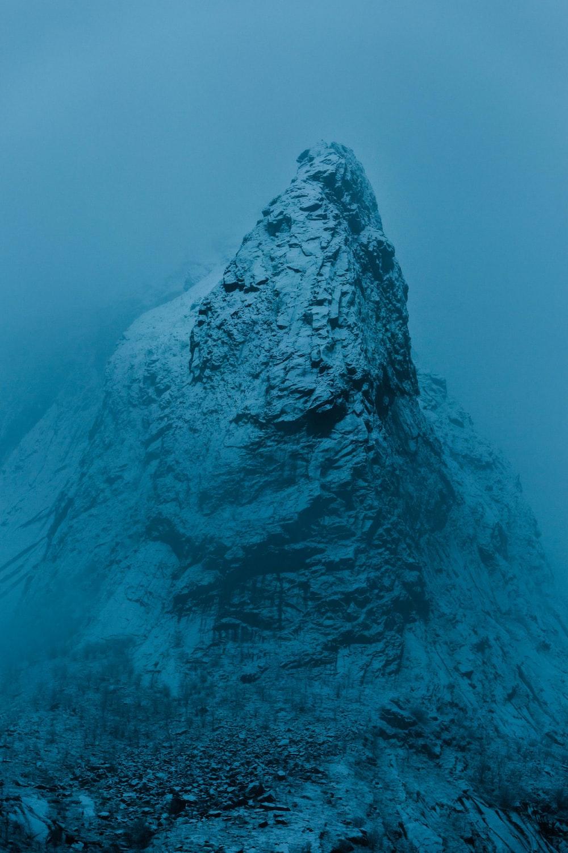 rock formation under sea