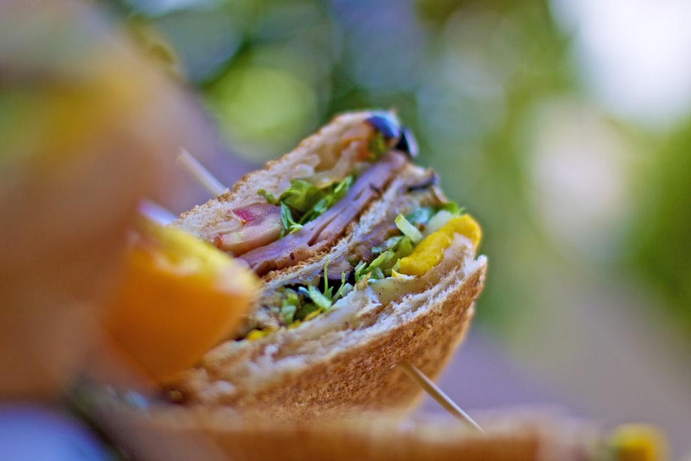food photography of clubhouse sandwich