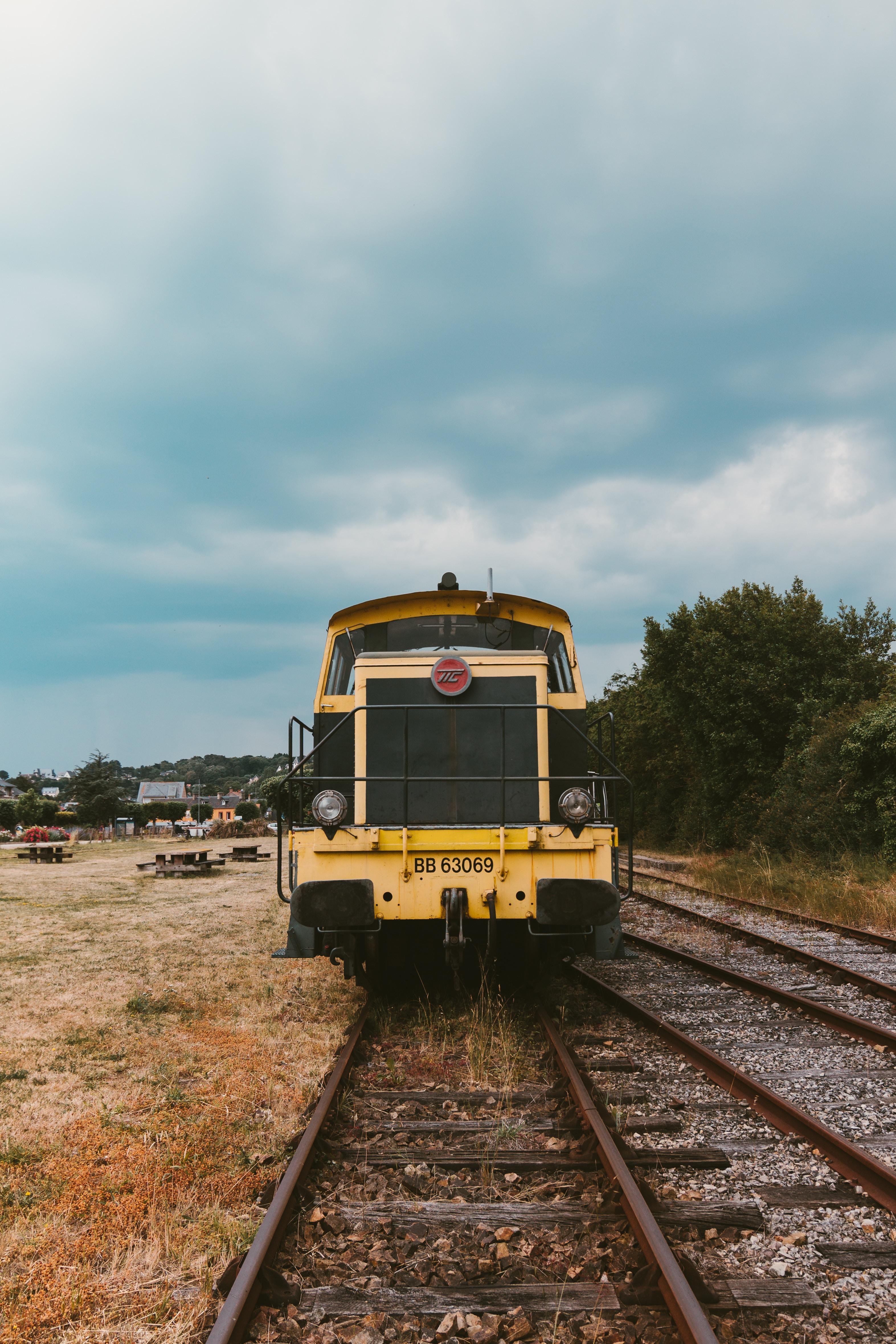 train on railway photo