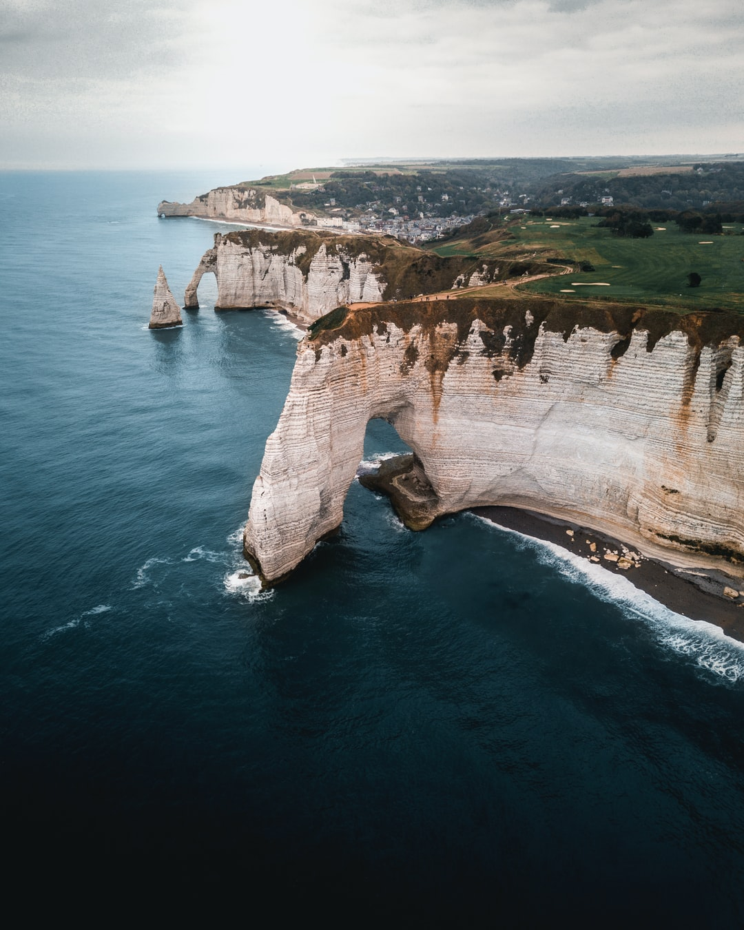 Above Etretat's cliff