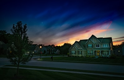 gray wooden house during sunset indiana zoom background