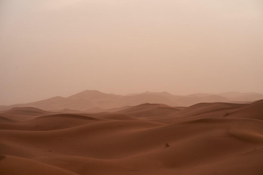 desert under white sky during daytime