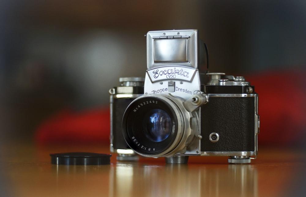 gray and black SLR camera