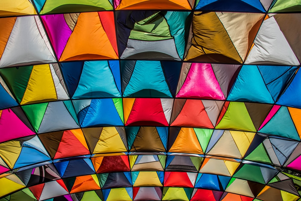 assorted-color canopy cover\