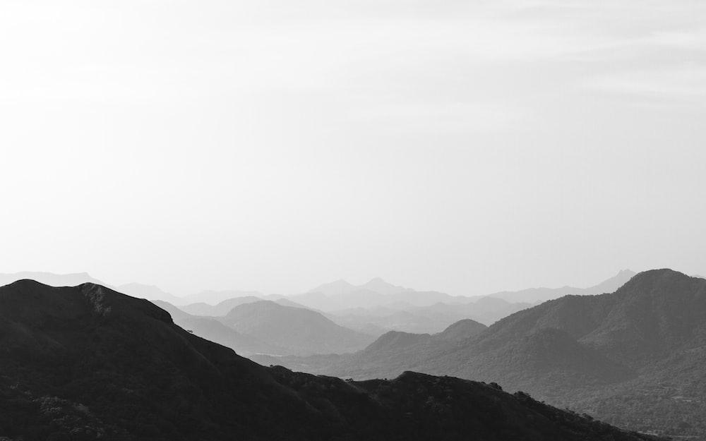 black mountains during daytime
