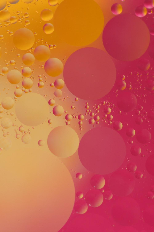 pink and orange bubble digital wallpaper