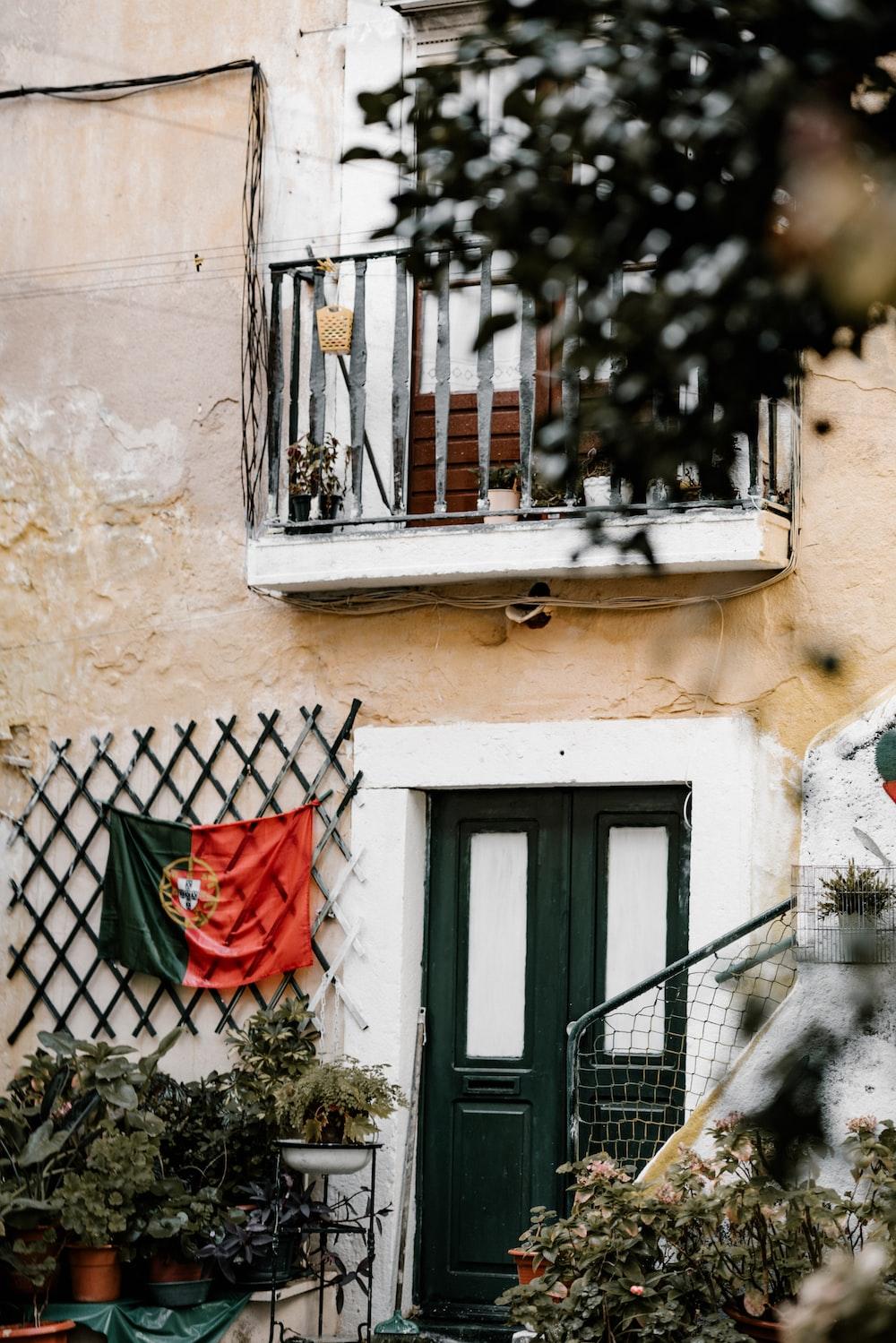 Portugal flag hung near door