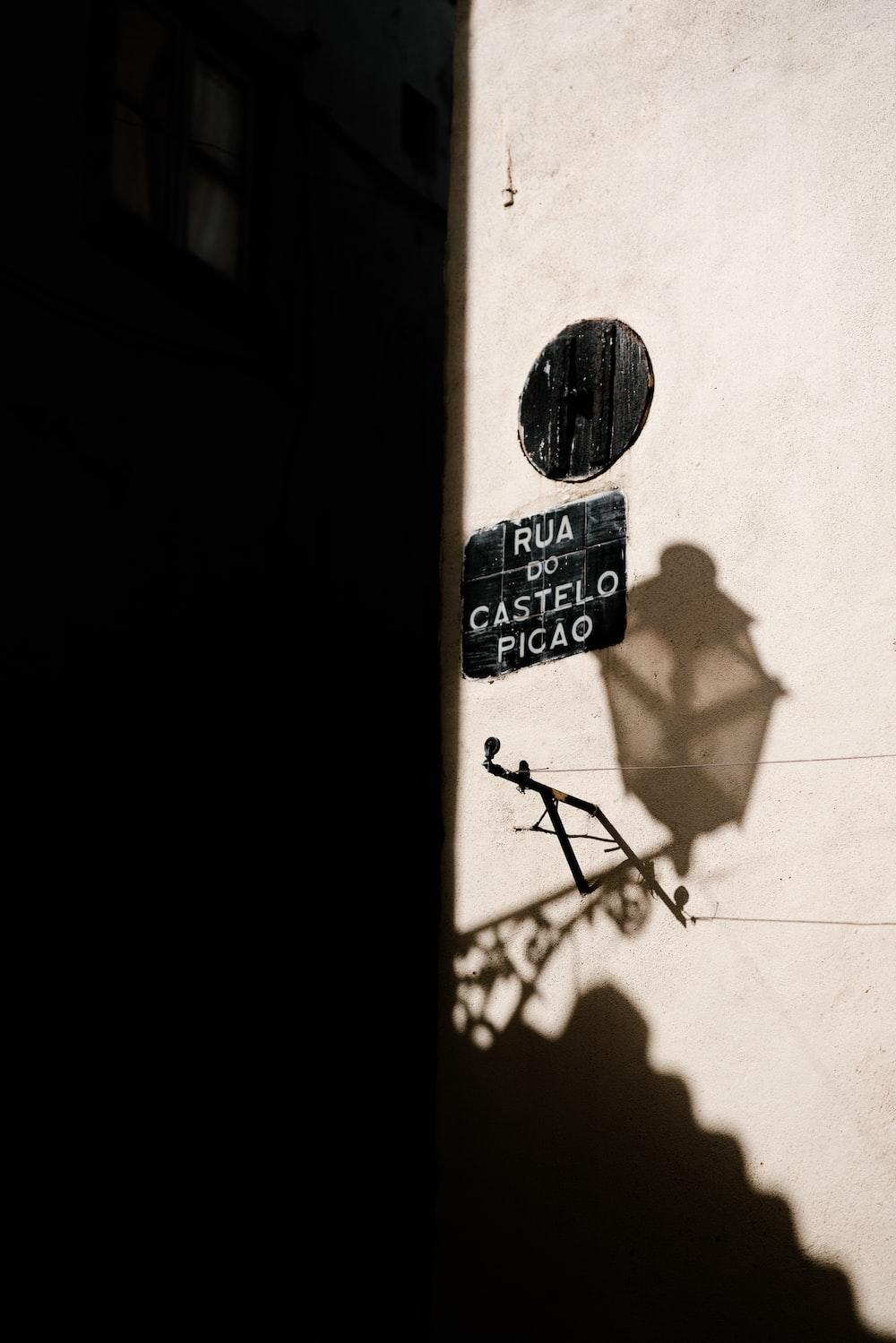 Rua Do Castelo Picao street signage