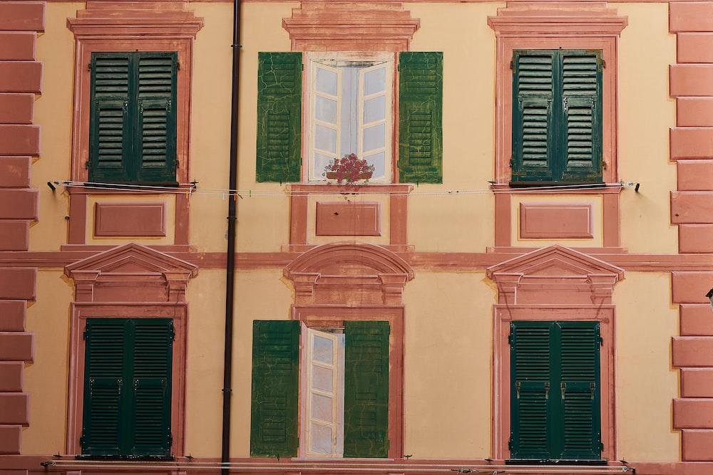 six green building windows