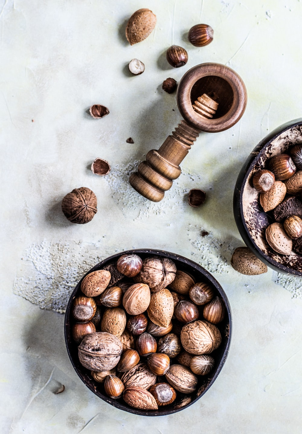 brown assorted nuts
