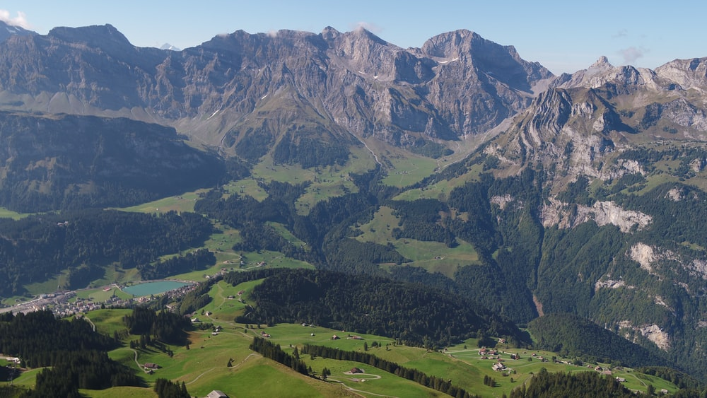 aerial view photography of mountains