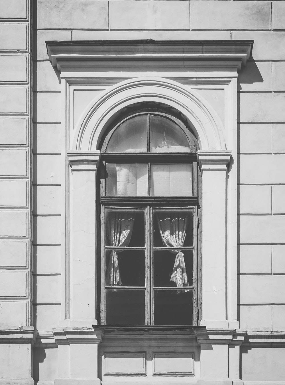 gray concrete window frame
