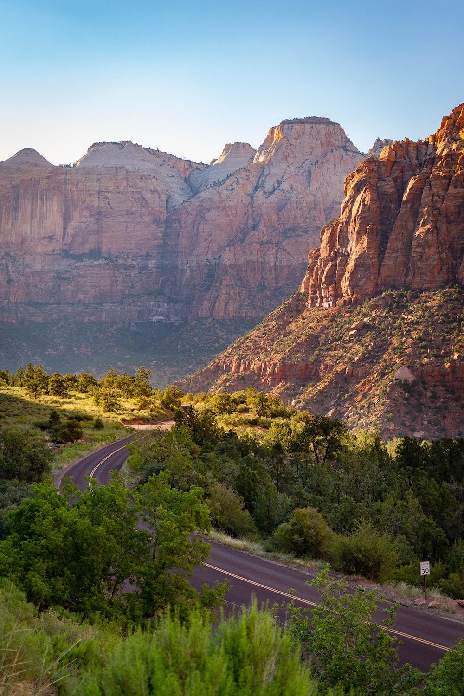 empty road near mountain