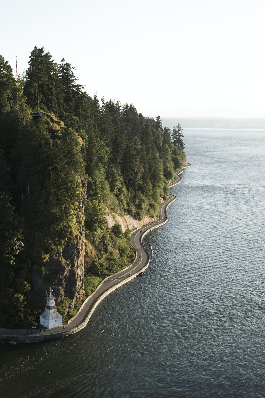 winding coastal highway at daytime