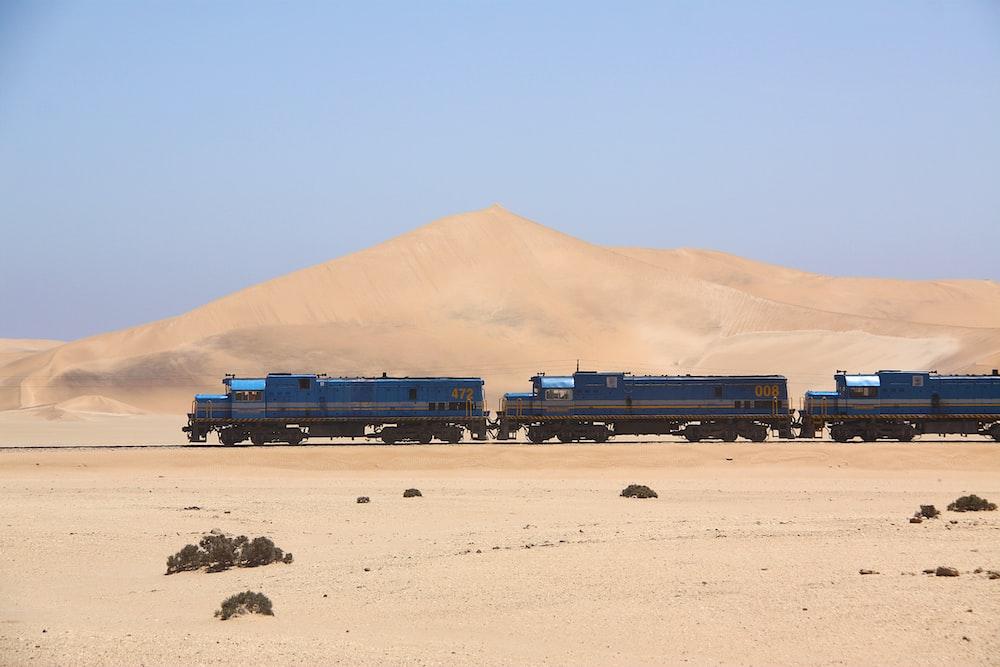 three black trains