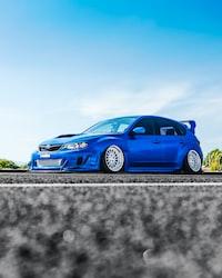 blue Subaru sedan