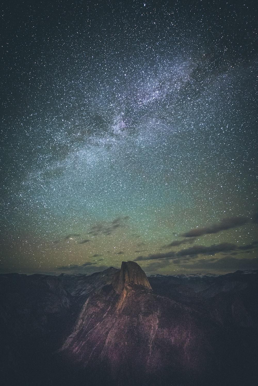 summit during nighttime