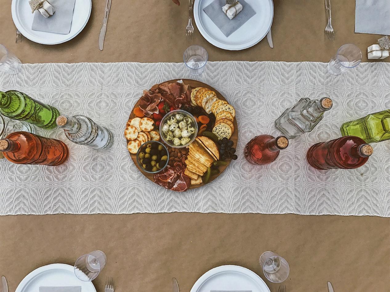 At-home picnic spread