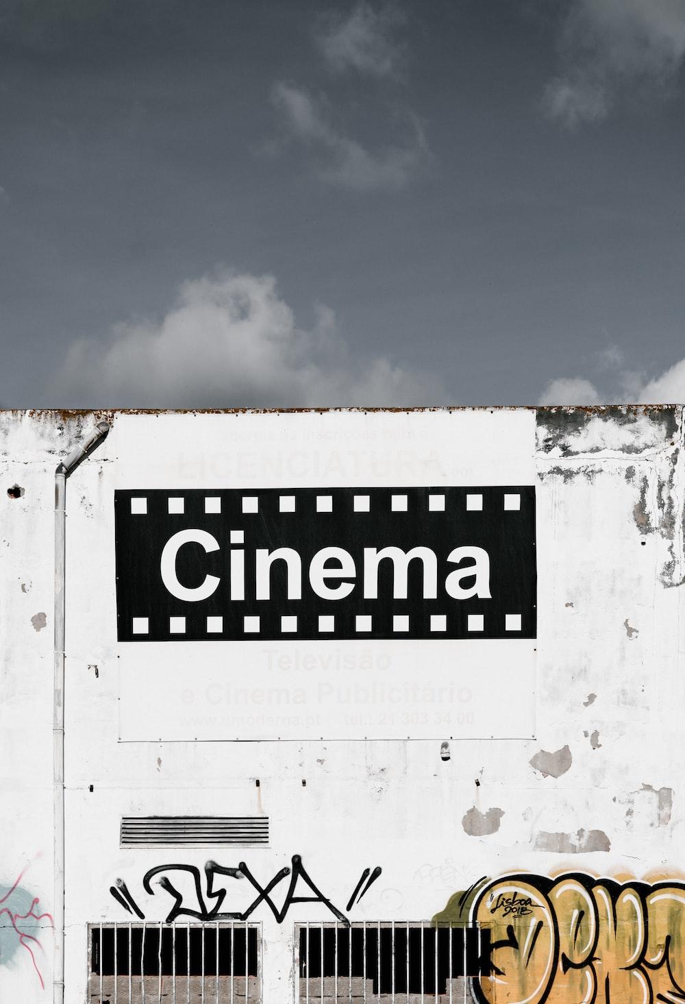 black and white Cinema graffiti