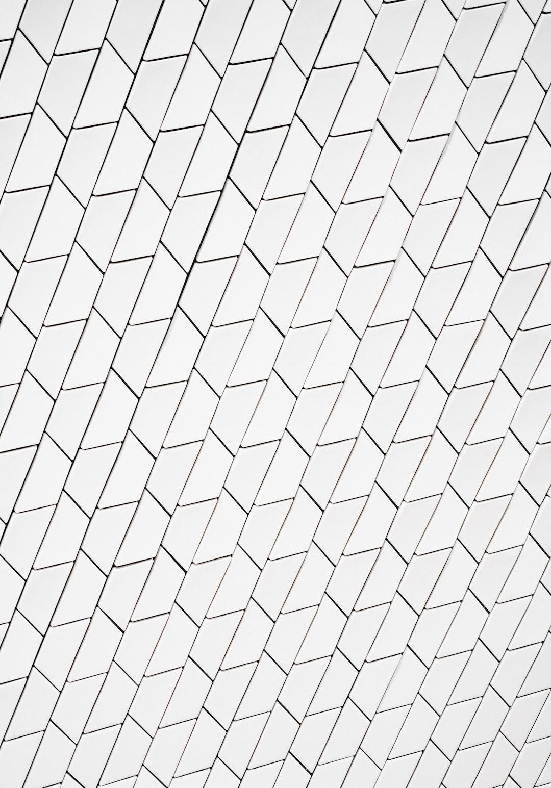Portrait orientation white tiled background