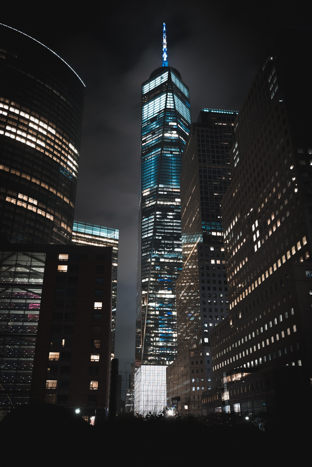 One World Trade Center building during night timne