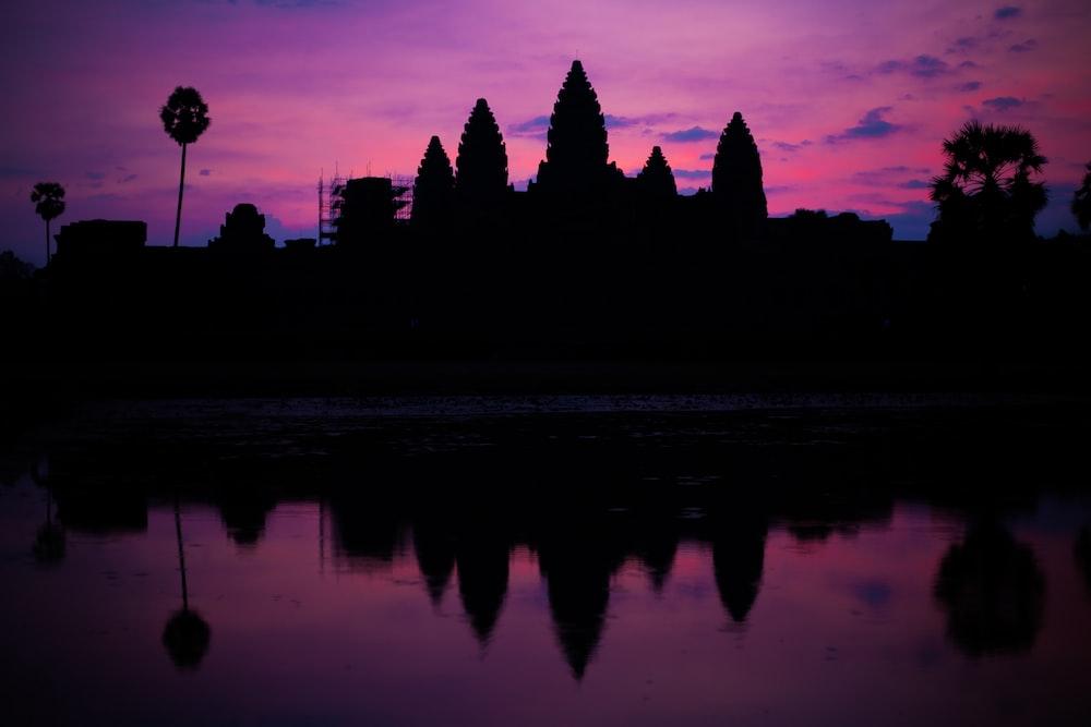 silhouette of Ankor Wat