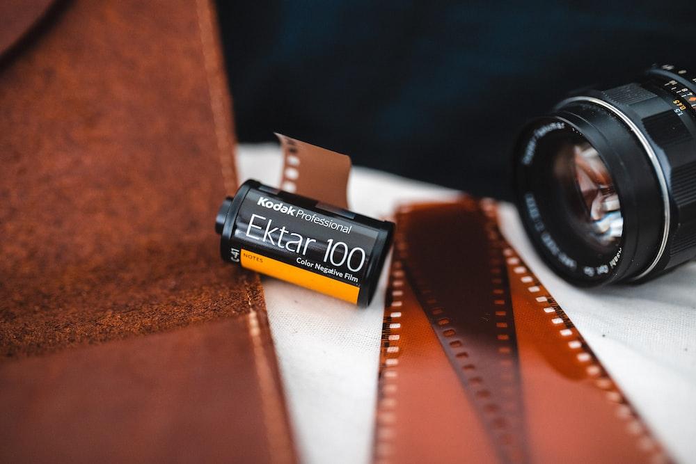 black and yellow Kodak Ektar 100 film