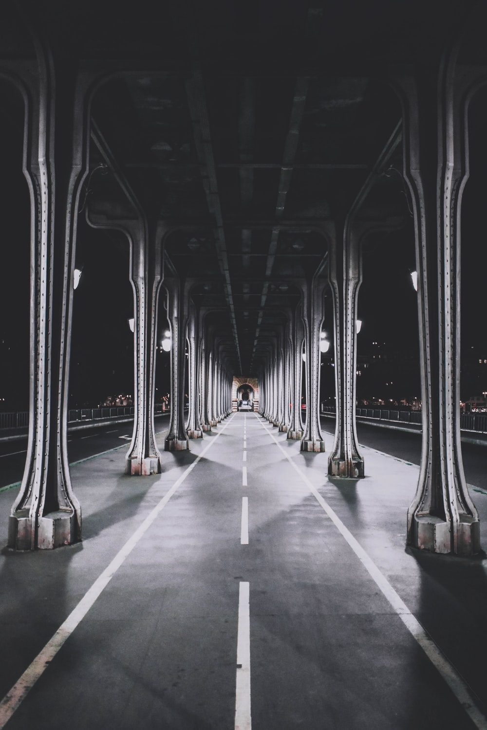 empty road during nighttime