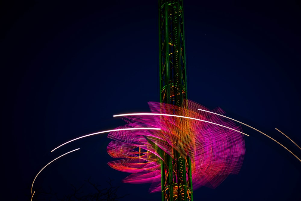 lighted carnival ride