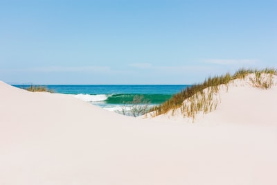 white sand near shore under clear sky at daytime