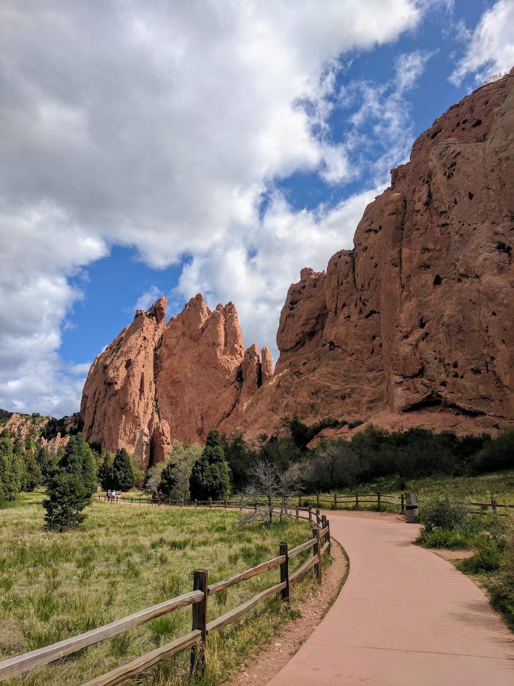 brown landmark mountain