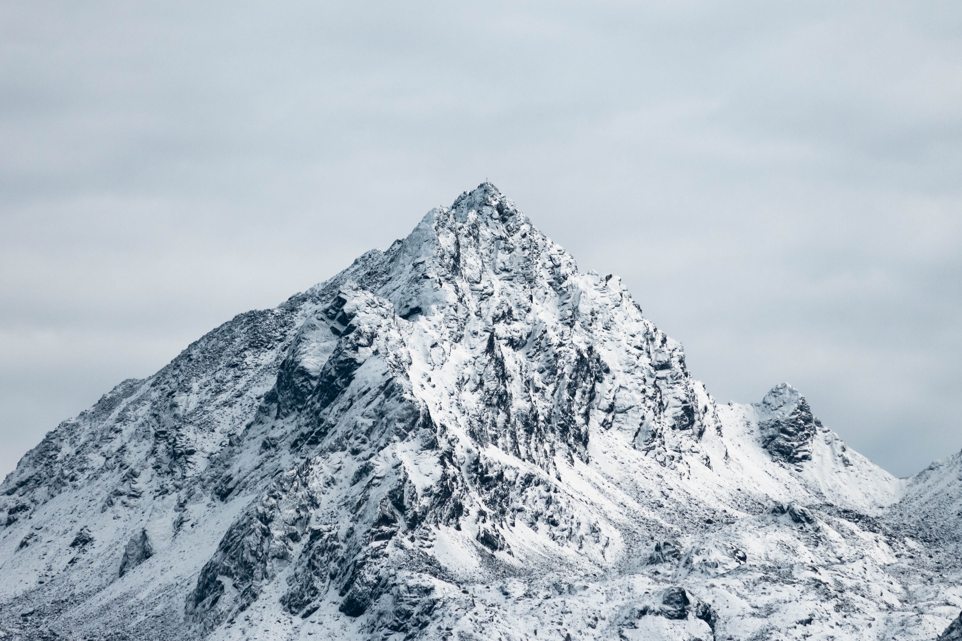 mountain covered with snows