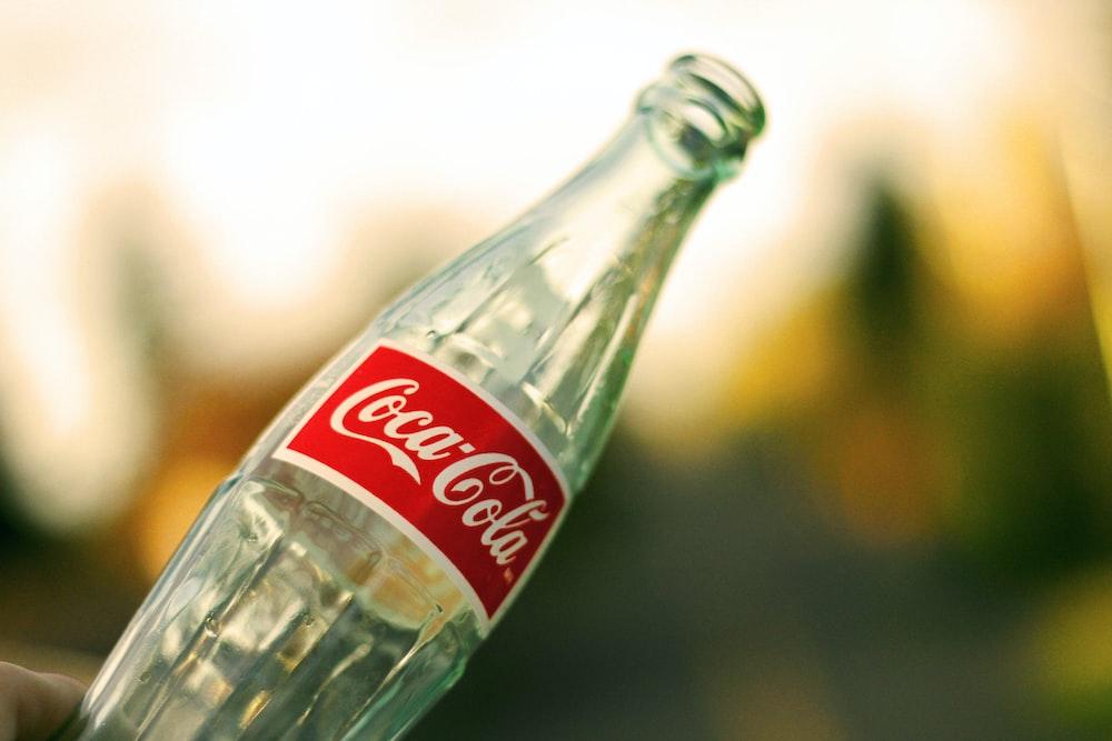 empty Coca-Cola glass bottle