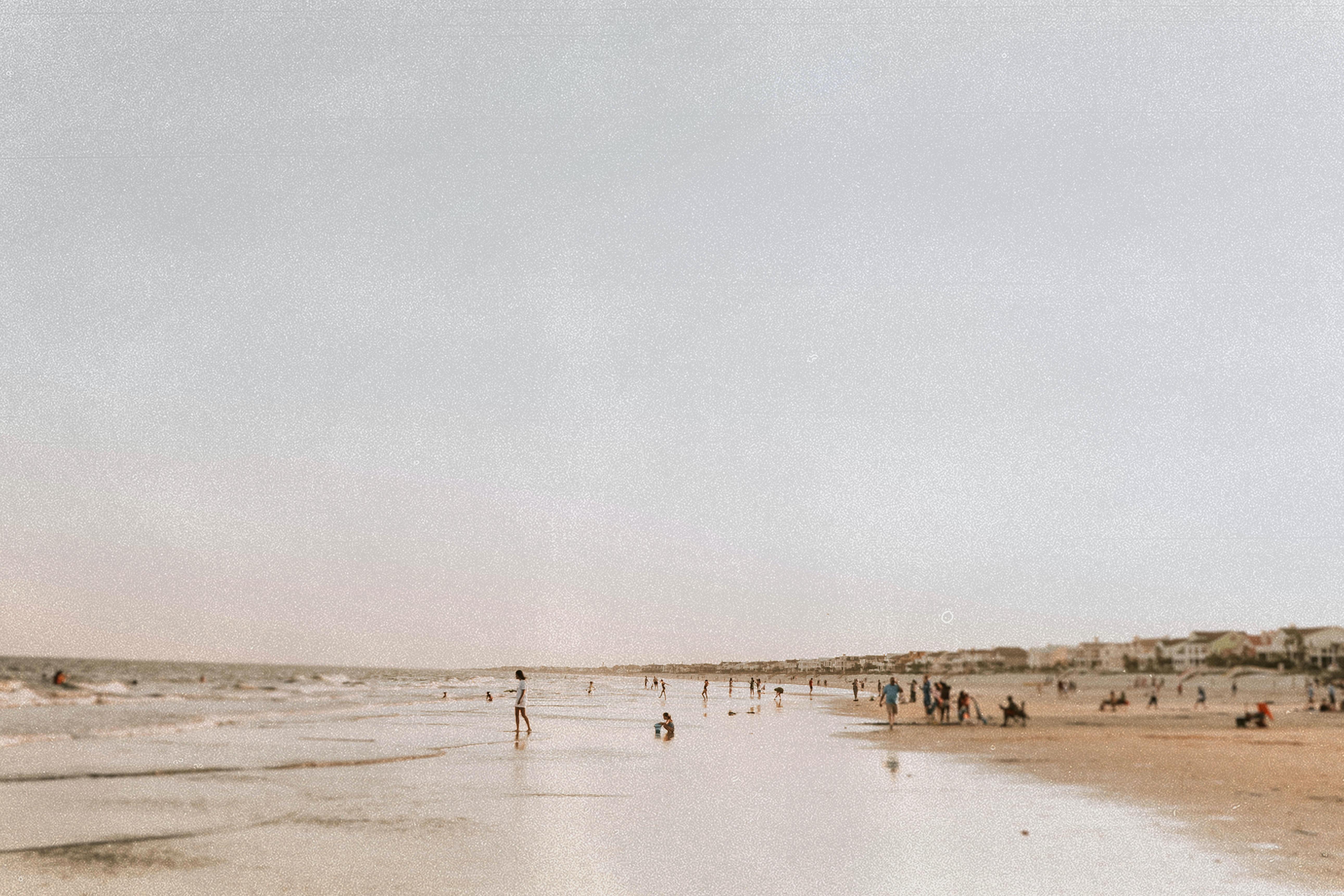people near beach