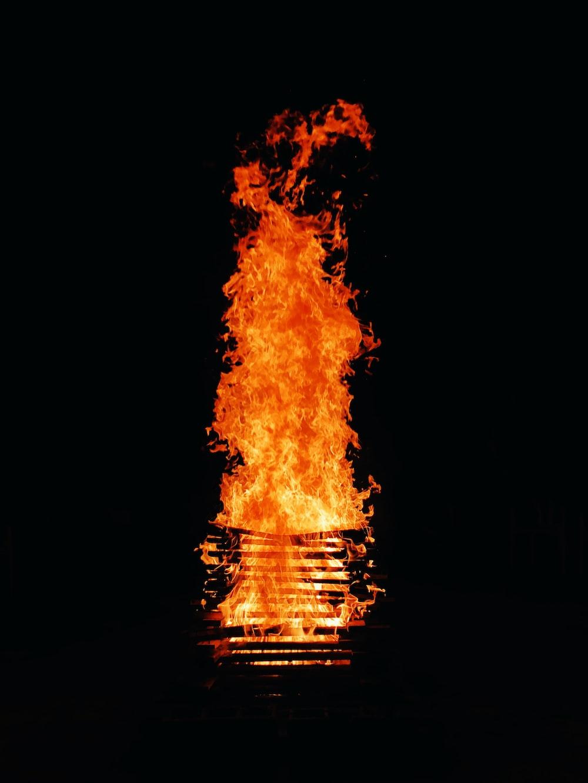flame at night