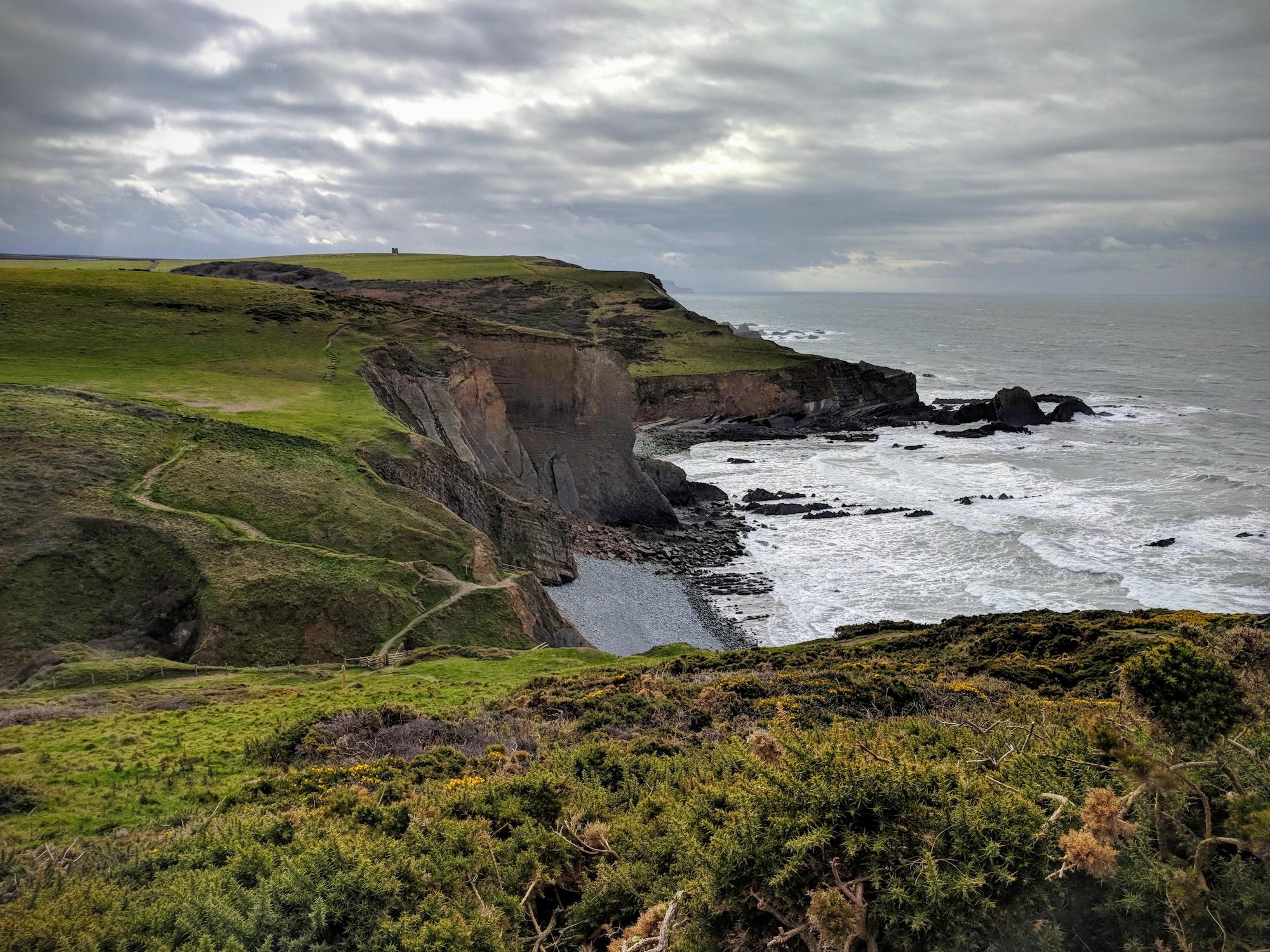 Coastal footpath near Hartland, Devon