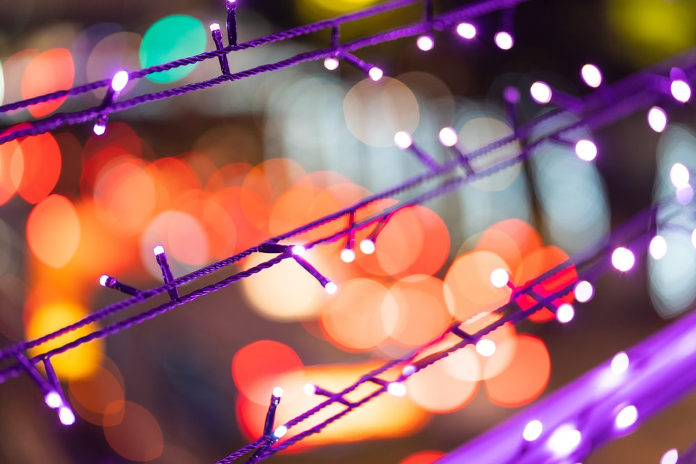 orange and purple bokeh wallpaper